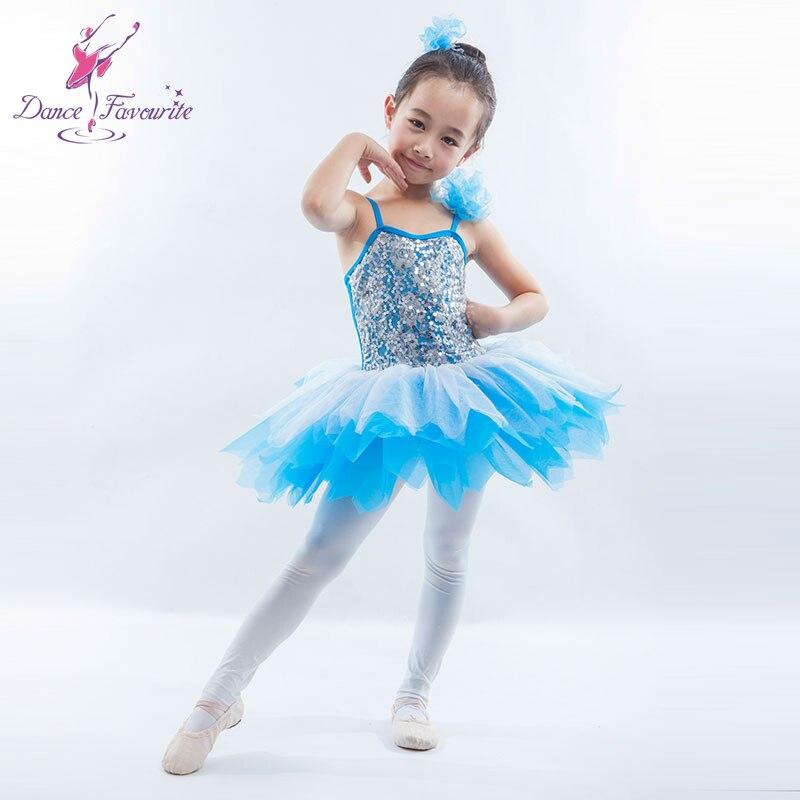 Sequin corsage en dentelle spandex ballet fille tutu, Ballerine de danse de performance costume ballet tutu