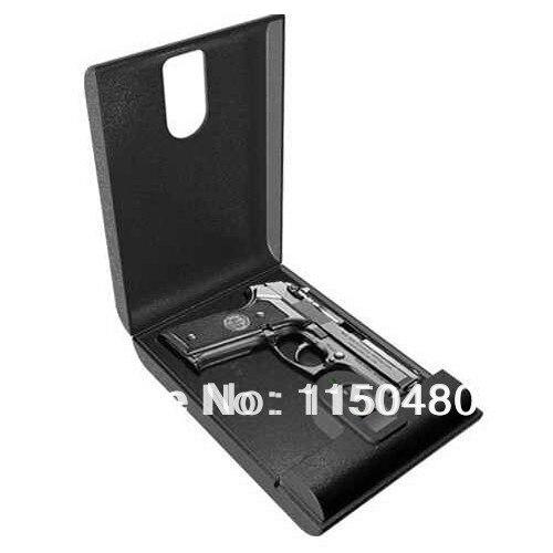 Free Shipping Portable Fingerprint Biometric Mini Gun Safe Box