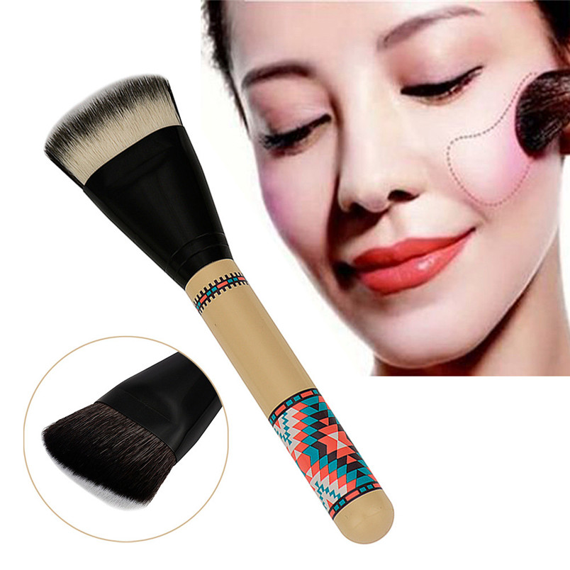 1PC Make Up Brush Double Sided Hair Dispersion Powder Blush Blusher Makeup Cosmetic Brushes Tool Free Shipping Wholesale F13 make up factory blush brush