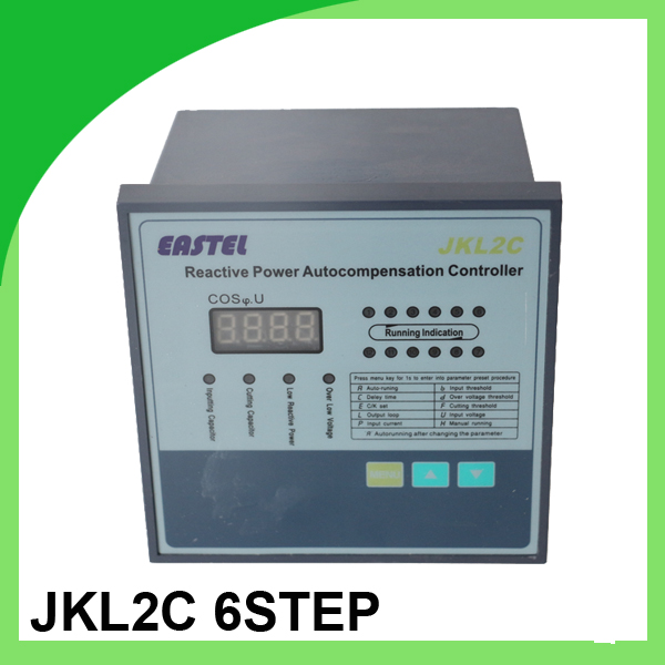 JKL2C power factor controller for power factor correction bank 220v 50hz 6step for power factor meter