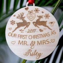 our first christmas ornament married couple personalized christmas ornaments mr and mrs gifts couple