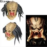 Top Grade Latex Movie Predator Cosplay Mask Costume Helmet Props Antenna Halloween Party Horror Xcoser Face Head Mask toys