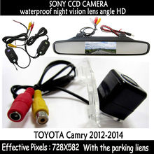 Wireless Parking With 4.3″ TFT LCD Display Car Rear View Mirror Monitor +  Night Vision Rear View Backup Camera for Toyota Camry