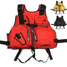 Outdoor Fishing Vest Nylon Life Jacket Breathable Sport Fishing Men Vest Safety Waistcoat Survival Utility Vests Daiwa Clothing