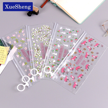 Mysterious Small Flowers Animals PVC Waterproof Pencil Cases Stationery Storage Office School Supplies Pencil Bags for Girls