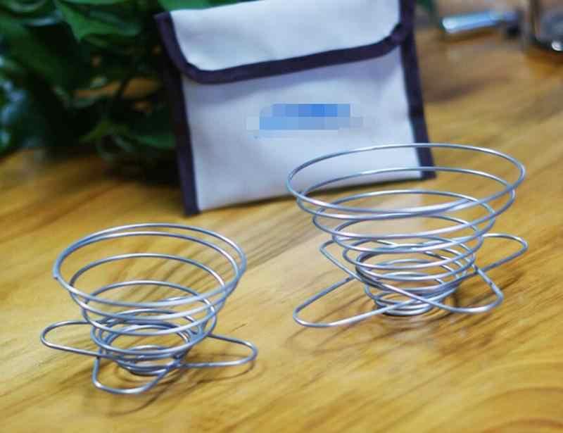Venda quente o Mais Novo da Mão Mola de Aço Inoxidável Filtro de Café Copo Do Filtro Portátil Copo do Filtro de Café Filtro de Acessórios de Cozinha