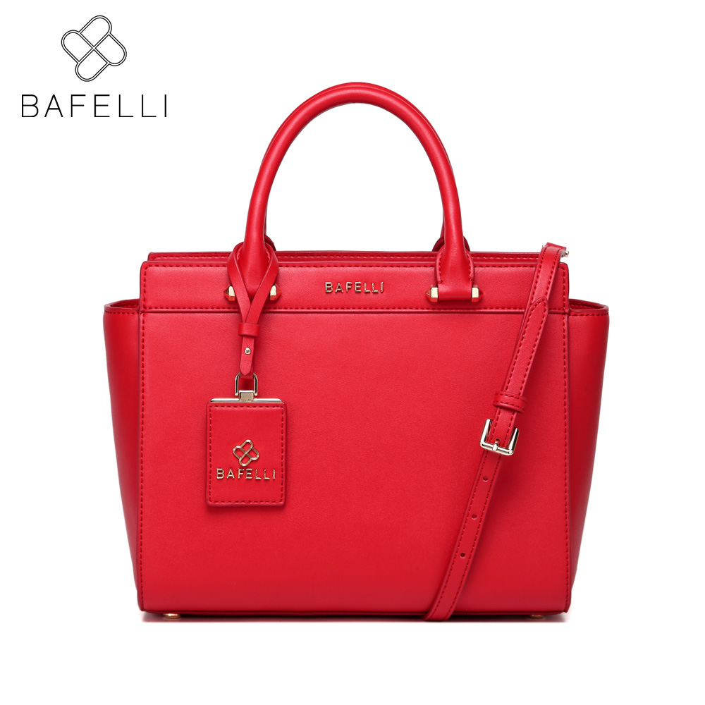 BAFELLI split leather fashion trapeze Large capacity shoulder bag women luxury handbag hot sale business messenger bag