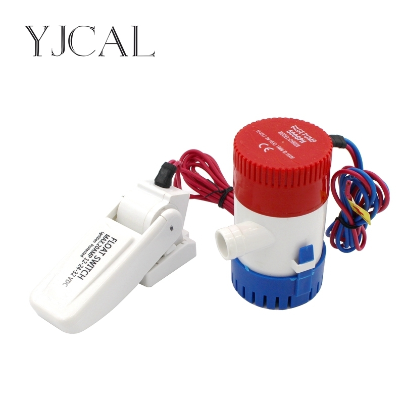 Bilge Pump 500GPH DC 12V 24V Float Switch Combination Suit Electric Water Pump For Aquario Submersible Seaplane Motor Homes electric hz10 series 2 pitch combination switch 60a