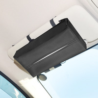 Car Tissue Box Car Supplies Creative Pumping Paper Imitation Pu Leather Napkin Box Automobile Seat Hanging