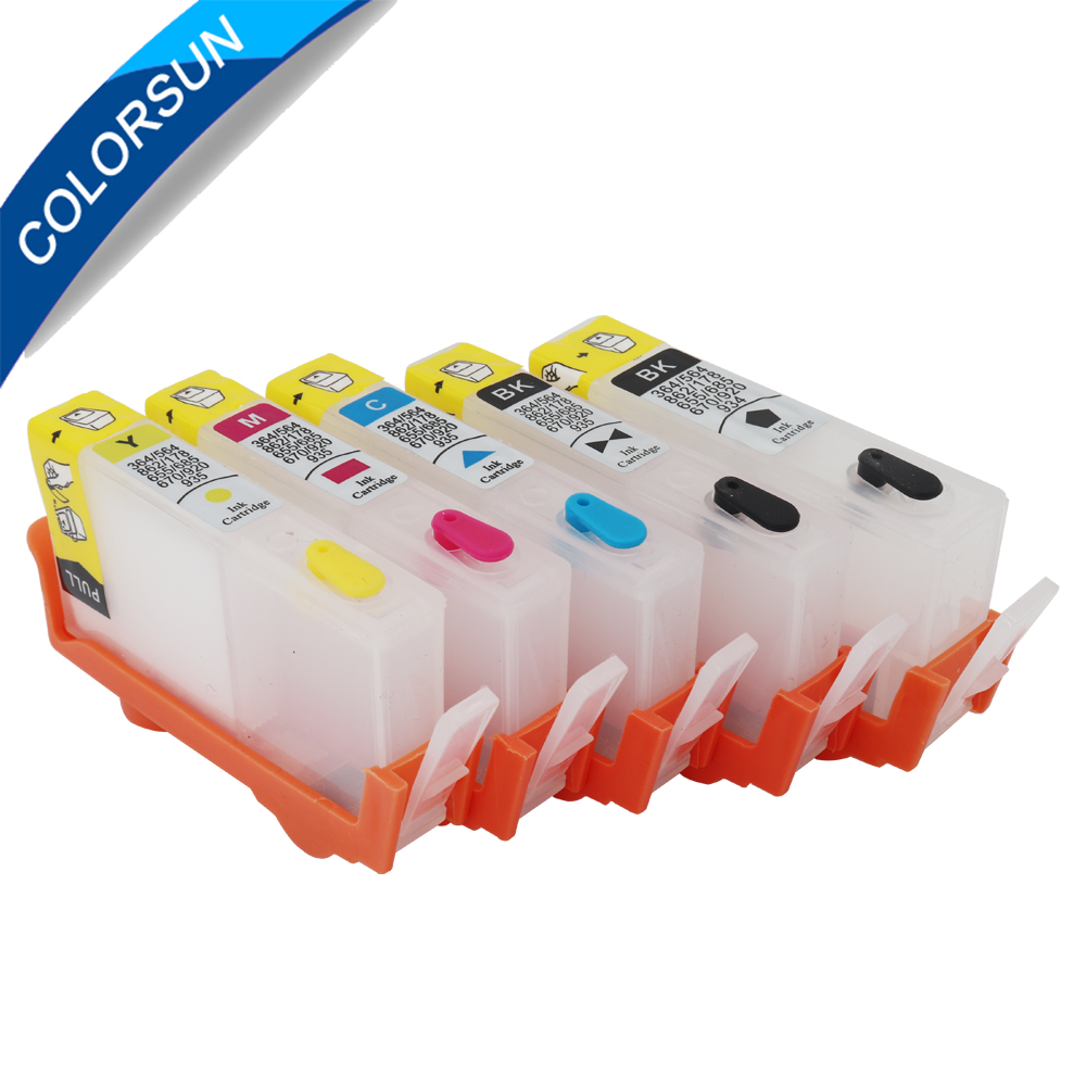 5pcs For HP364 Ink Cartridge for <font><b>HP</b></font> <font><b>364</b></font> XL For <font><b>HP</b></font> Pro 5520 5524 6510 6520 7510 B109 B110 B209 B210 C309 C310 D5460 With Chip image