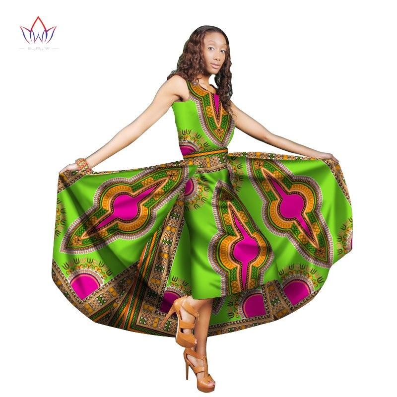 Traditionelle Afrikanische Frauen Kleidung Print Wachs Benutzerdefinierte Ankle Länge Kleider für Frauen Afrika Frauen Kleidung Dashiki Kleider WY1824 - 2