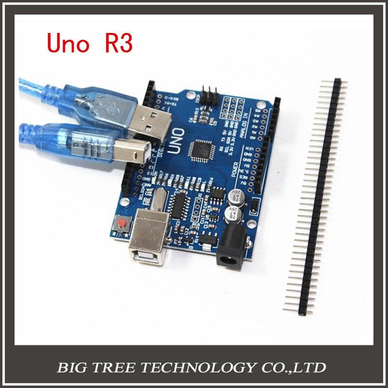 UNO R3 1PCS high quality  UNO R3 MEGA328P CH340 CH340G for Arduino UNO R3 + USB cable 1PCS open smart uno atmega328p development board for arduino uno r3