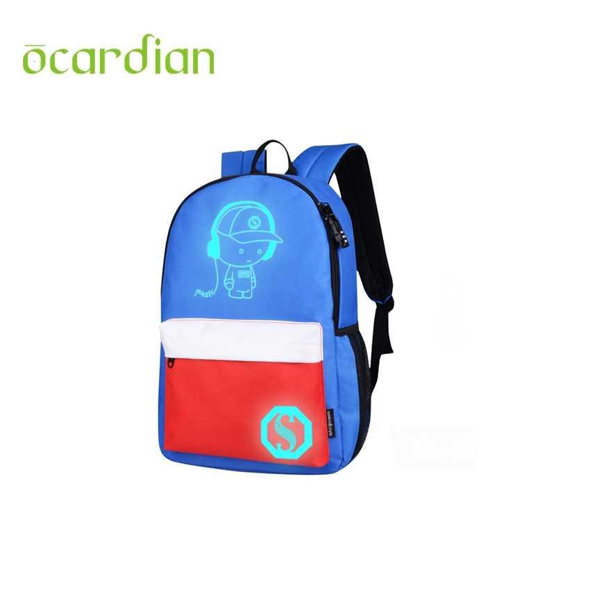 d1be35eaca9b Ocardian унисекс свет опрятный подростков Серебристые мультфильм школьные  ранцы студент рюкзак портфель школьные ранцы для подростков