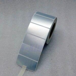 Image 1 - シルバー Pet ラベルステッカー 65*35 ミリメートル 1000 個/ロール防水 Tearproof 耐油製品ラベルシリアル番号固定資産ラベル