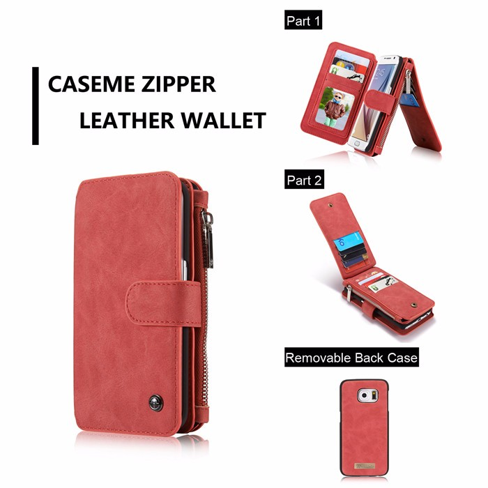 Wallet case For Samsung Galaxy S6 S6 Edge Edge Plus Genuine Leather Phone Case Bag Multi-functional Back Cover 14 Cards Holder (9)