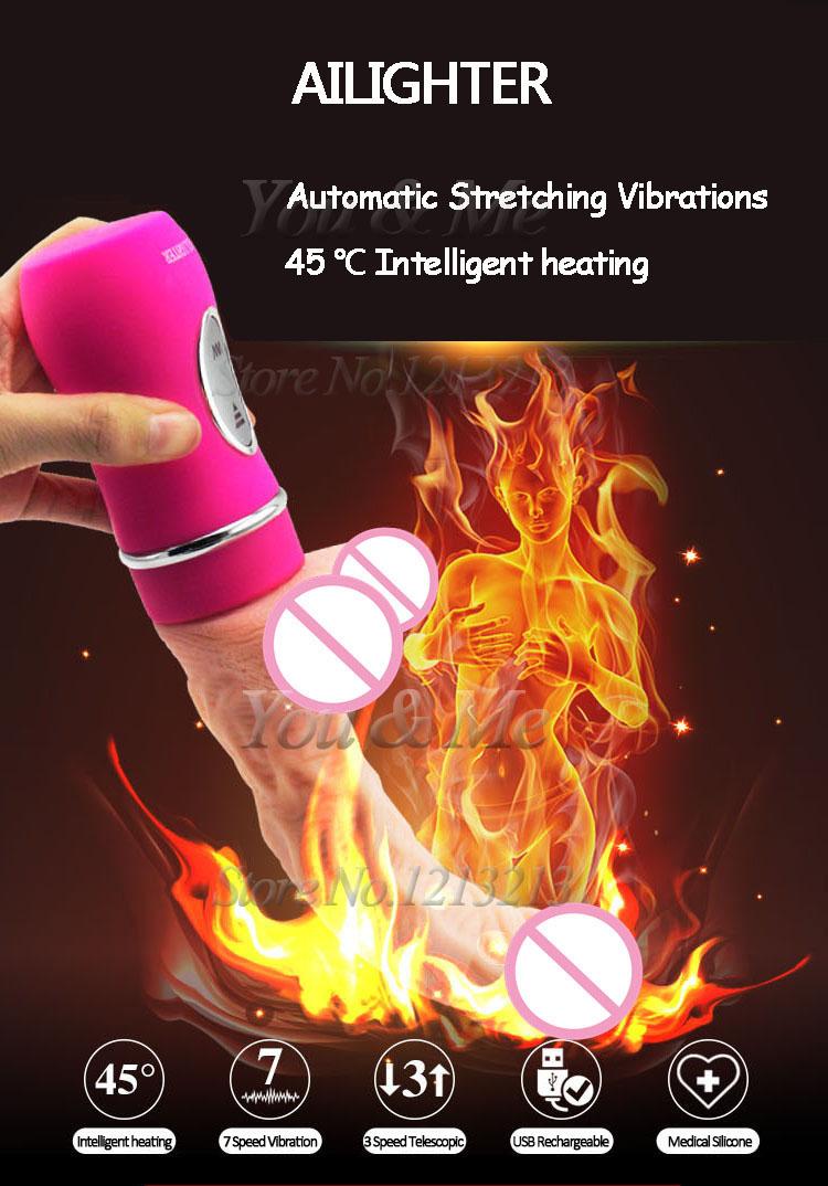 AILIGHTER Dildo Vibrator USB alat bantu wanita