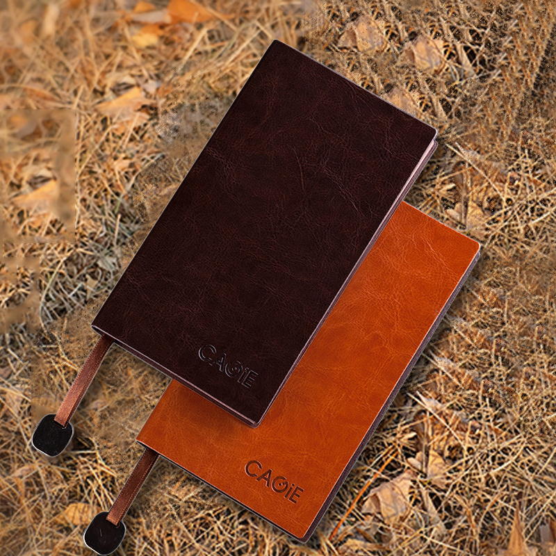 CAGIE Vintage Leather Notebook a5 b5 Filofax Daily Planner a6 Small Office Supplies Dotted Lined Notebook Pocket Agenda Diary a6 small business notebook retro style leather notebook office learning notes notebook comes with a pen