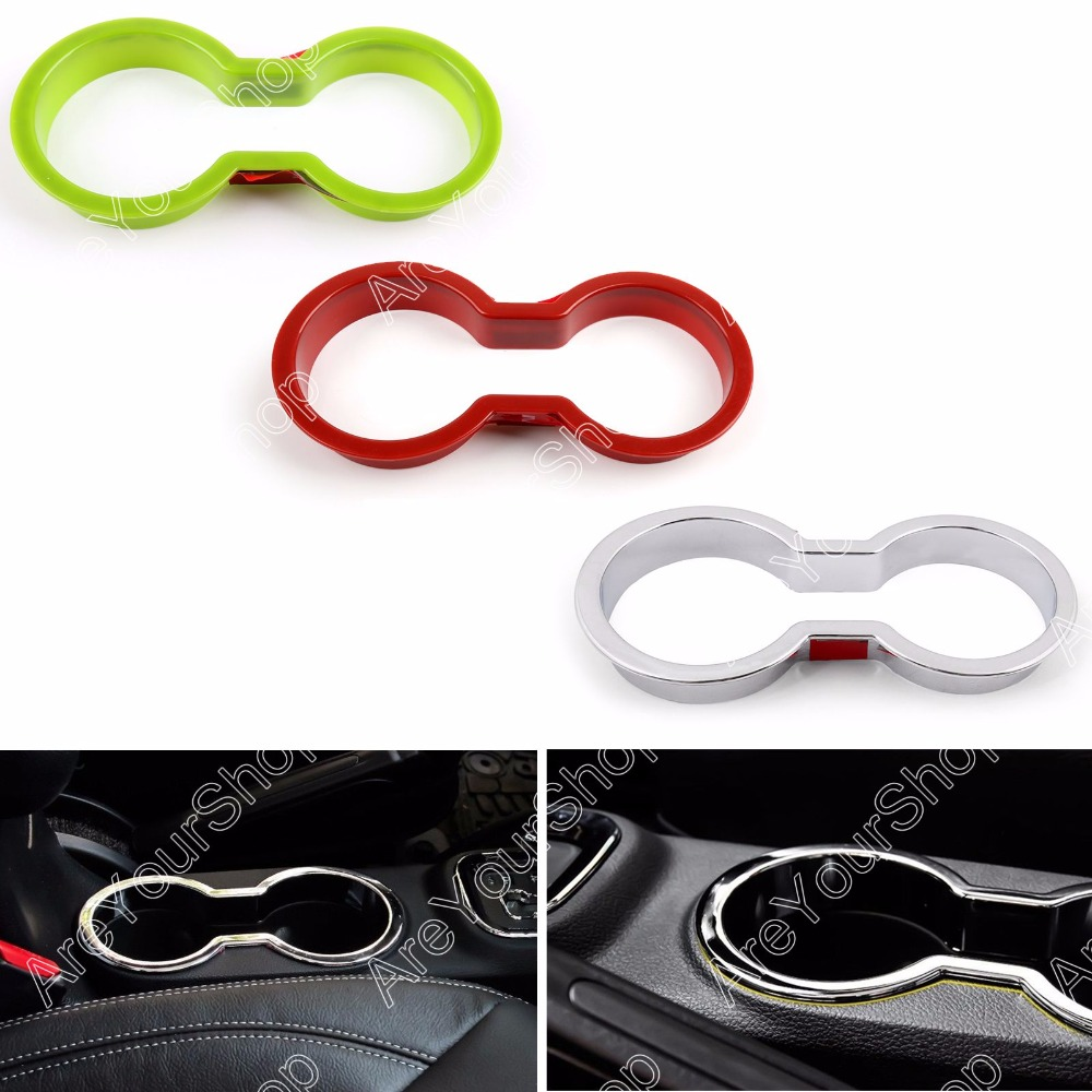 Areyourshop Car Interior Front Water Cup Holder Cover Trim Sticker For Jeep Wrangler 2011-2016 1Pcs  Car-Styling Car Accessory купить