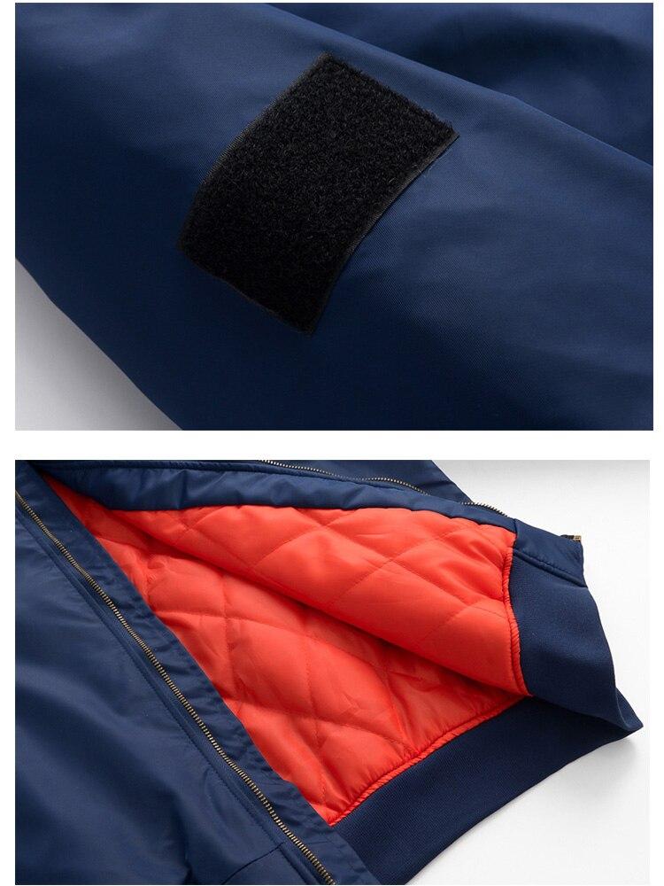 Image 5 - US Size Custom Logo Design Men Flying Jacket DIY Printing Zipper Coat Thicken Jacket Unisex Outerwear-in Jackets from Men's Clothing