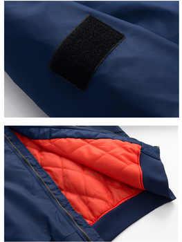 US Size Custom Logo Design Men Flying Jacket DIY Printing Zipper Coat Thicken Jacket Unisex Outerwear