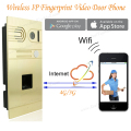 DIY Wireless Wifi IP Fingerprint Video Door Phone Wireless IP Intercom System Home Intercoms Remote Control Camera Doorbell