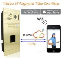 DIY Wireless Wifi IP Fingerprint Video font b Door b font Phone Wireless IP Intercom System