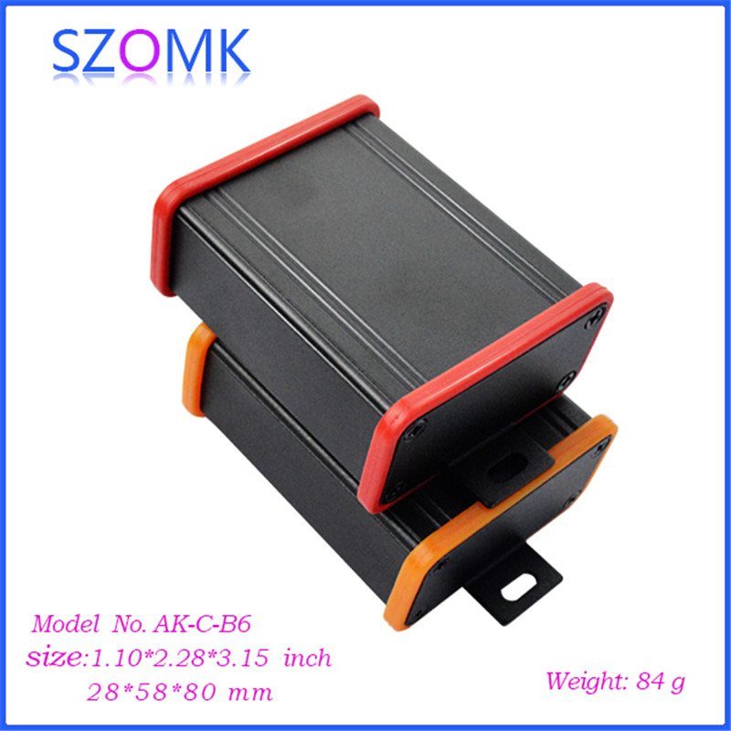 1 piece, 28*58*80mm extruded electronics outlet enclosures szomk aluminum project box new aluminum enclosure junction housing 1 piece free shipping small aluminium project box enclosures for electronics case housing 12 2x63mm