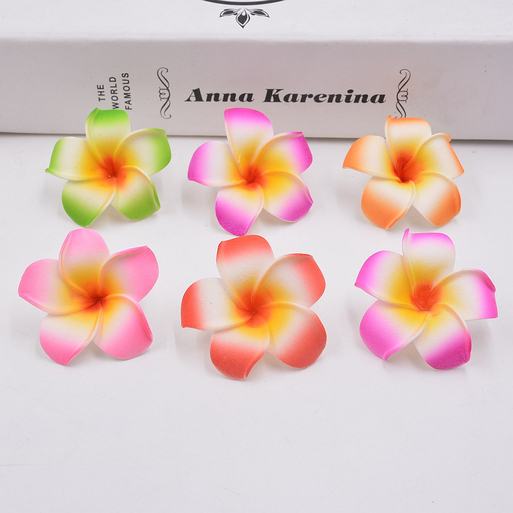 10pcs 4cm Artificial Colorful Egg Flower Head Pe Foam Hawaiian
