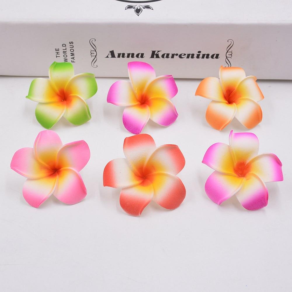 10pcs 4cm Artificial Colorful Egg Flower Head / PE Foam Hawaiian Wedding Party Decorativ ...