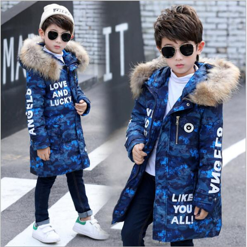 2017 new children's down jacket Korean version of male children with thick warm coat fashion clothes. AC79 children s 2017 winter new children s down jacket big girls in the korean version of the girls down jacket long thick coat