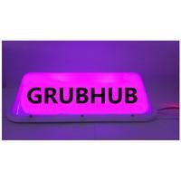 New CAR GRUBHUB Top Light /car Super bright LED taxi dome light 3M Cigarette lighter plug line