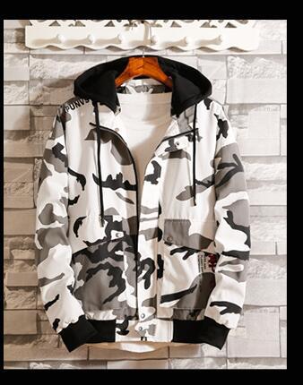 Оригинальный 2018 Весна и осень сезон новый камуфляж cap куртка, мужчина в тонком стиле подростков тенденция, мужчина куртка повседневная mensD244