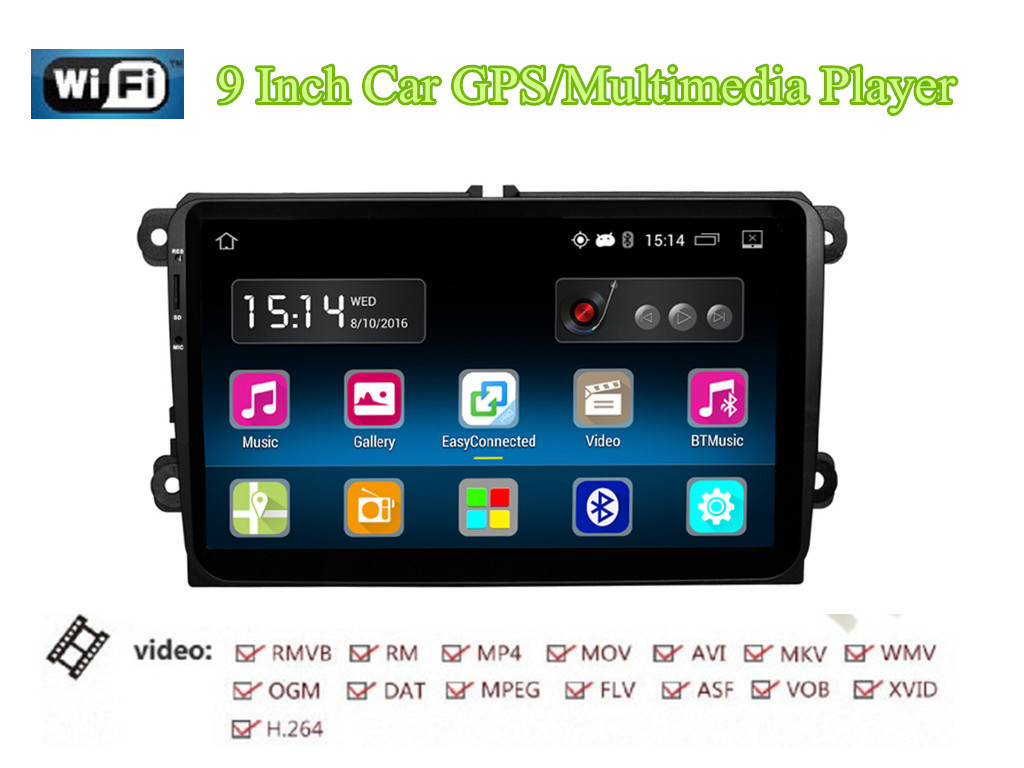 RM-VWTY91 Android 5.<font><b>1</b></font> <font><b>2</b></font> Din HD Car Radio Stereo Player GPS 1G DDR3+16G NAND Memory Flash for VW Jetta T5 EOS Passat Golf MK6 MK5