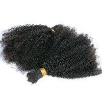 Oplatania Włosy ludzkie Luzem Nie Wątek Afro Perwersyjne Kręcone Luzem Mongolski włosów Dla Oplatania Nie Remy Włosy Warkocze Szydełku Miód Królowa włosy