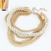 New Fashion Luxury Braided Multilayer Bracelet Alloy Bangle 3Pcs 5