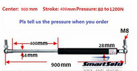 Free Shipping 80 To 1000N Force 900mm Central Distance 400 Mm Stroke Pneumatic Auto Gas Spring