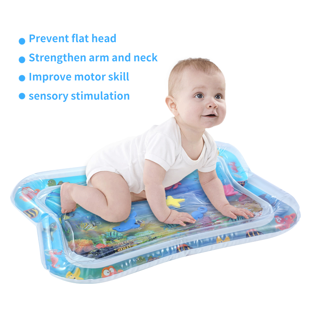 PVC Baby Inflatable Water Play Mat Infant Underwater World Baby Playmat Toddler Fun Activity Pad Perfect For Summer Use