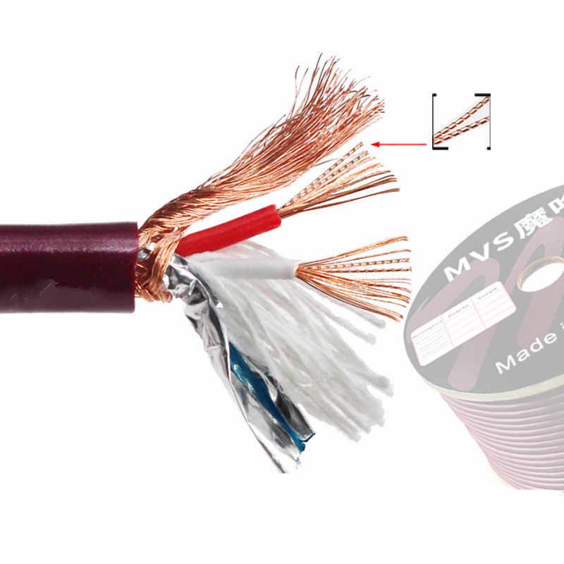 Аудиокабель 2 core Чистый медный экранированный провода 6 мм aux линии подключения к RCA 3,5 jack 5DIN pulg для усилители домашние проигрыватель