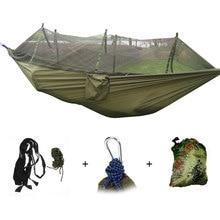 Portable Mosquito Net Camping Hammock Outdoor Garden Travel Swing Parachute Fabric Hang Bed Hammock 260*130cm Drop Shipping цены онлайн