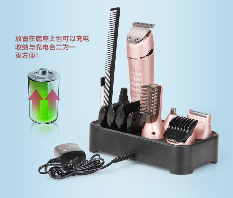 Electric Professional Hair Trimmer 5 in 1 Hair cutter Machine kit Hair Clipper Cutting Razor for Barber DIY Adult Rechargeable automatic shearing hair trimmer hair cutter machine kit hair clipper cutting razor for barber diy hair cut adult rechargeable