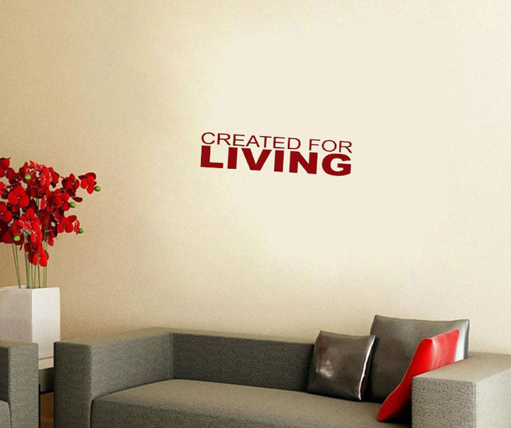 2015 Top Created Living Wall Sticker Home Decor New Design Art Words Wallpapers For School Classroom