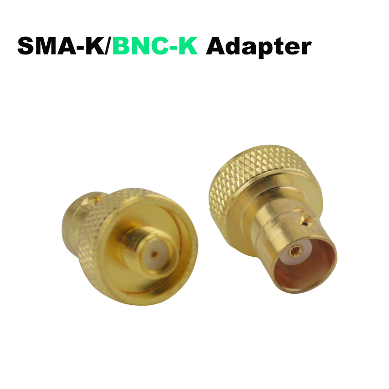 SMA-K (SMA Female)/BNC-K (BNC Female) Jack Golden RF Adapter