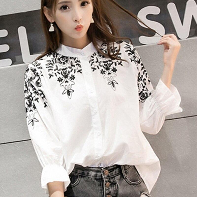 2016 Blusas Femininas Women Cotton Blouse Plus Size