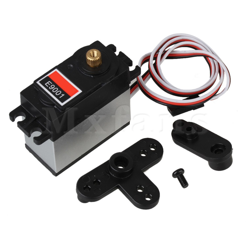 Mxfans N10036 9KG Metal Torque Steering Gear Servo for RC 1:8 RC 1:10 Model Car Black solar 24v 20a 20amp battery charger controller epever brand product tracer2215bn temperature sensor wifi function and mt50 meter