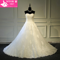 Vestidos De Noiva Com Foto Real Online Shop China Robe De Mariage Strapless Lace Vintage Wedding