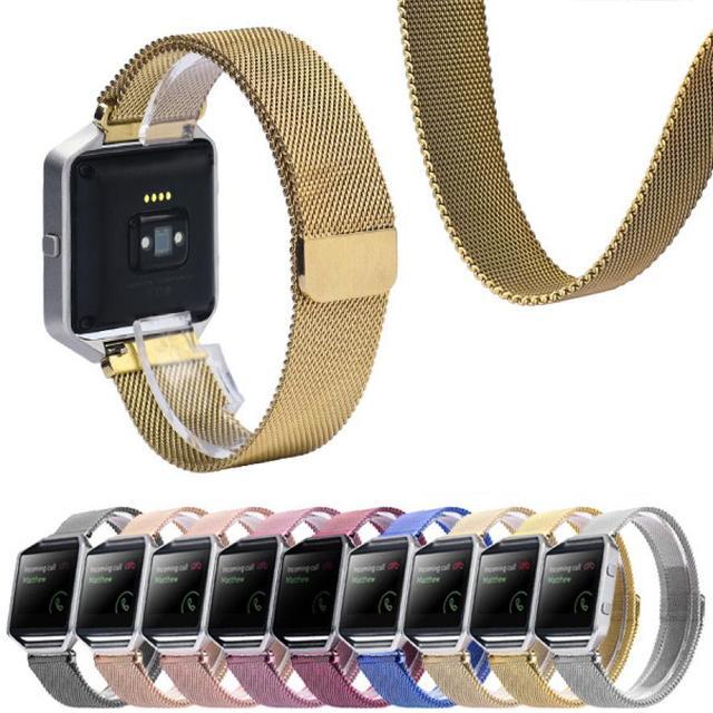 Brand New Alta Qualidade Milanese Laço Magnético de Aço Inoxidável Bandas Strap Pulseira Para Fitbit Blaze