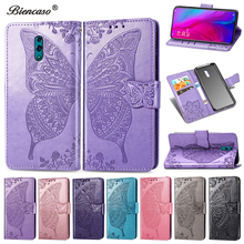 Butterfly Wallet Flip Card Slot Stand Cases For OPPO Reno Phone Cover For OPPO A5 F9 A9 F11 Pro Realme3 Coque For iPhone 6 Plus cheap Flip Case Dirt-resistant Anti-knock Kickstand With Card Pocket With Finger Ring Heavy Duty Protection Motorola Plain vintage