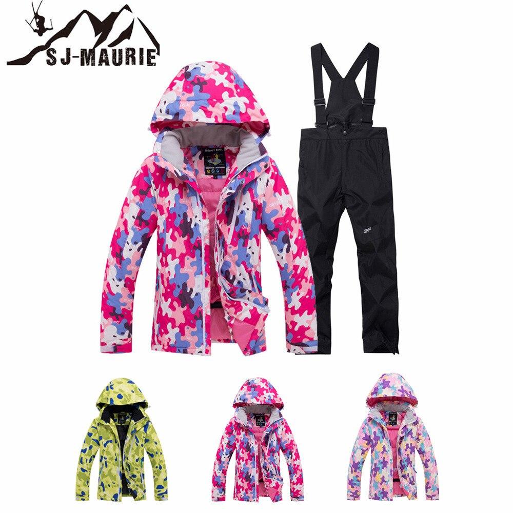 Sj-maurie hiver enfants Snowboard costume imperméable coupe-vent Ski costume enfants veste manteau Snowsuit filles garçon extérieur hiver manteau