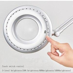 Image 3 - Lâmpada do lupa do diodo emissor de luz, clipe para braço giratório, clipe de mesa para reparar luz em mesa vidro lente de tatuagem de manicure cosmetologia