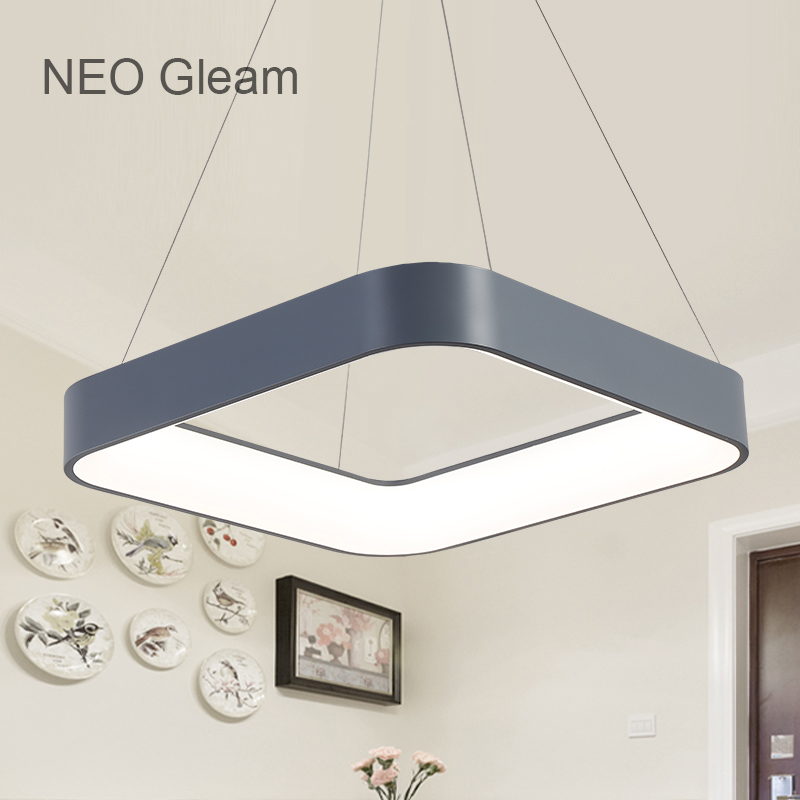 NEO Gleam Dining Room Bar Led Modern Chandelier Novelty Lustre Lamparas Colgantes Lamp for Bedroom Living Room luminaria fixture 2017 new chandelier light fixture modern glass chandelier suspension lamp lamparas aluminum drop lustre for living dining room